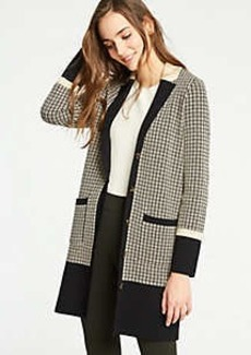 Ann Taylor Colorblock Plaid Coatigan
