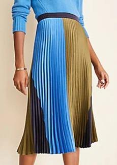 Ann Taylor Colorblock Pleated Skirt