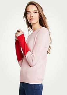 Ann Taylor Colorblock Sleeve Sweater