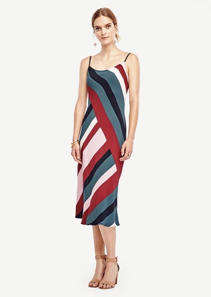 Ann Taylor Colorblock Slip Dress