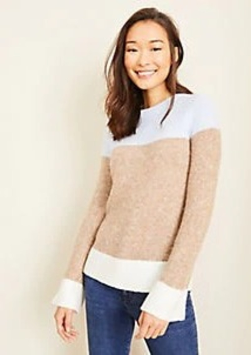 Ann Taylor Colorblock Stitched Sweater