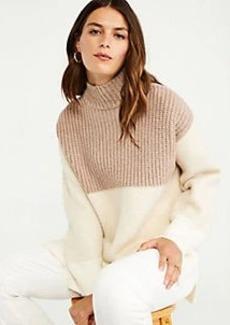 Ann Taylor Colorblock Tunic Sweater