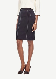 Ann Taylor Contrast Stitch Pencil Skirt