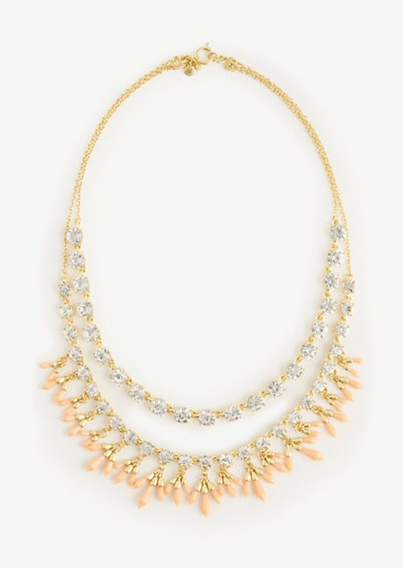 Ann Taylor Coral Crystal Necklace