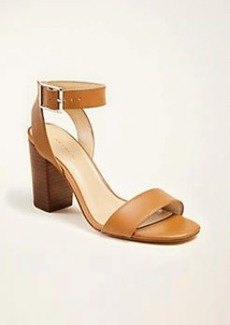 Ann Taylor Corey Leather Block Heel Sandals