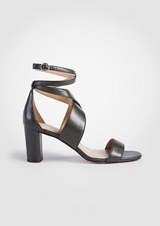 Ann Taylor Corrine Leather Block Heel Sandals