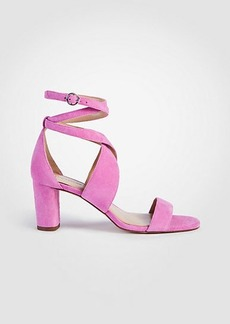 Ann Taylor Corrine Suede Block Heel Sandals