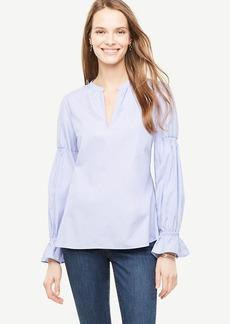 Cotton Blouson Sleeve Popover