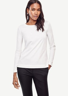 Ann Taylor Cotton Long Sleeve Tee