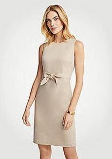 Ann Taylor Cotton Sateen Tie Front Sheath Dress