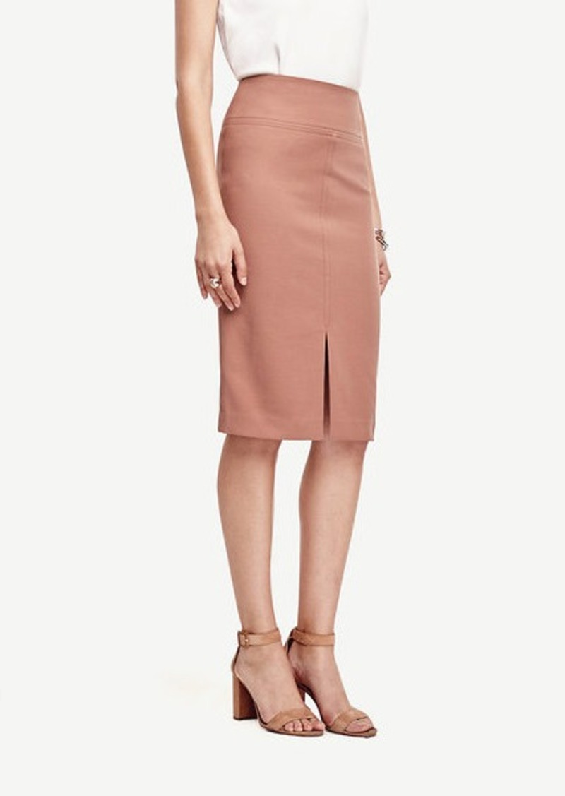 Ann Taylor Cotton Twill Pencil Skirt