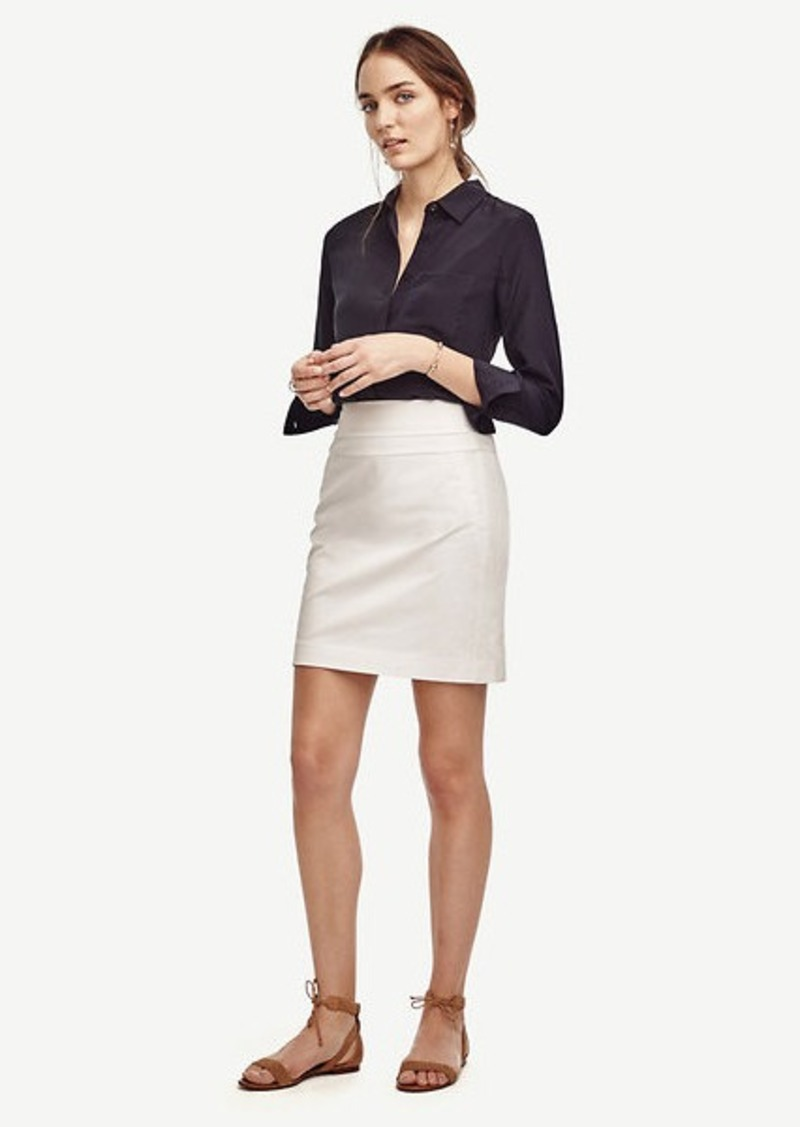 Ann Taylor Cotton Twill Skirt