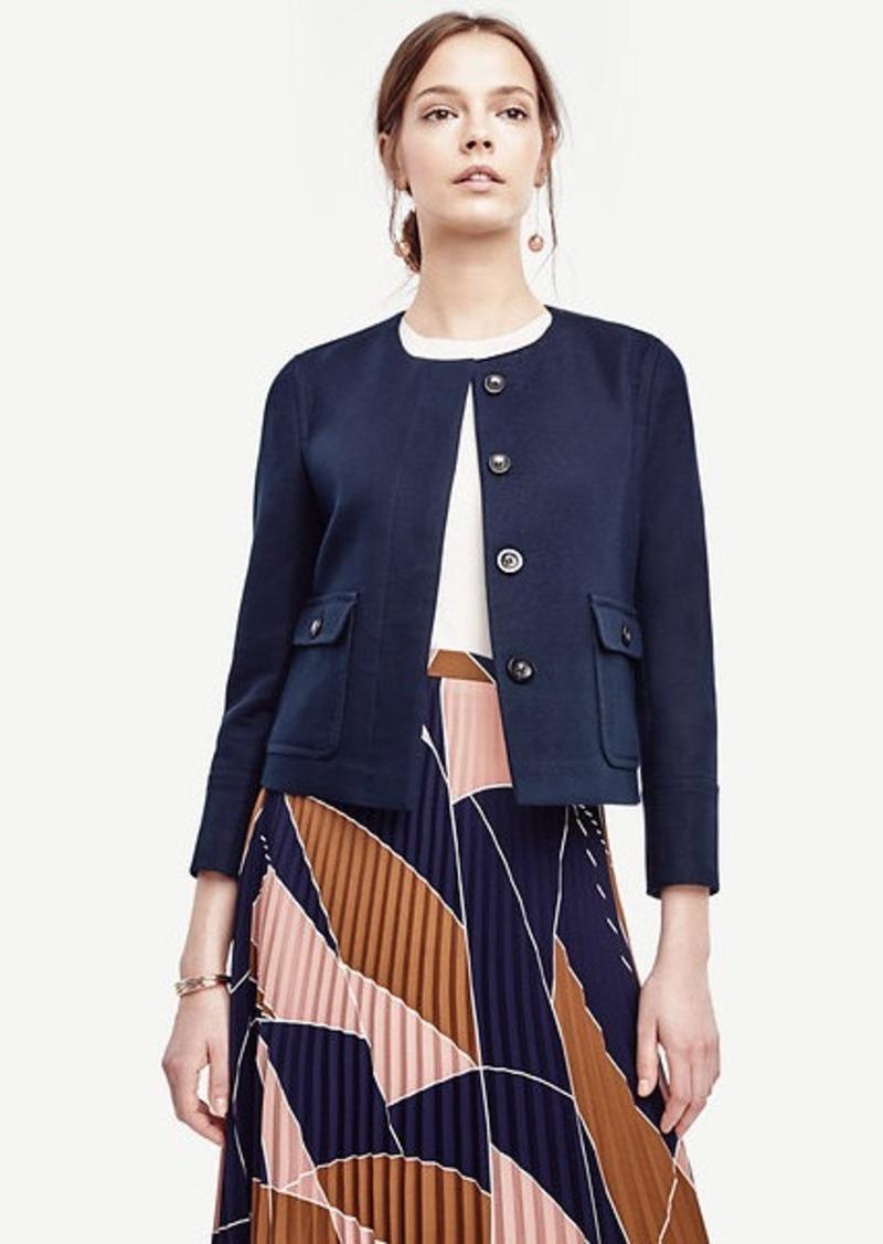 Ann Taylor Cotton Twill Utility Jacket