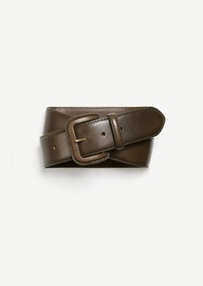 Ann Taylor Covered Buckle Leather Belt