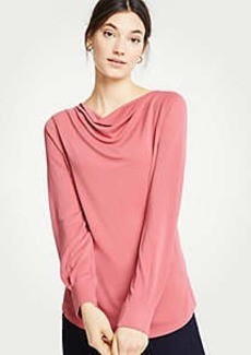 Ann Taylor Cowl Neck Long Sleeve Top