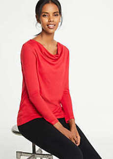 Ann Taylor Cowl Neck Top