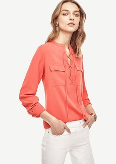 Ann Taylor Crepe Lace Up Tunic