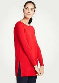 Ann Taylor Crew Neck Tunic Sweater
