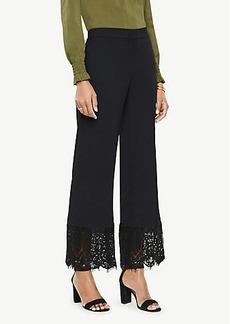 Ann Taylor Cropped Lace Hem Pants