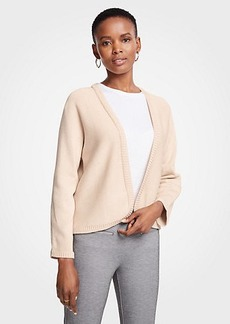 Ann Taylor Cropped Open Cardigan
