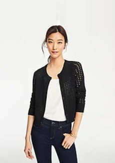 Ann Taylor Cropped Open Stitch Cardigan