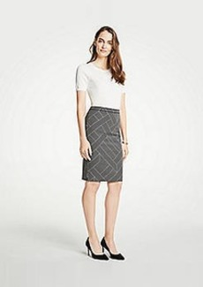 Ann Taylor Cross Stripe Pencil Skirt