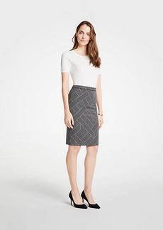 Ann Taylor Cross Stripe Pencil Skirt