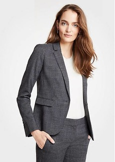 Ann Taylor Crosshatch One Button Blazer