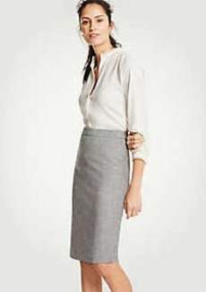 Ann Taylor Crosshatch Pencil Skirt