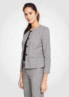 Ann Taylor Crosshatch Peplum Jacket