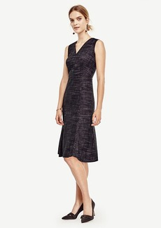 Crosshatch Tweed Flounce Dress