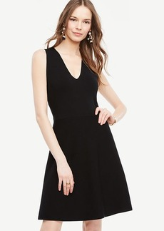 Crossover Back Flare Dress