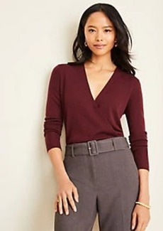 Ann Taylor Crossover V-Neck Sweater