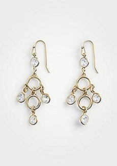 Ann Taylor Crystal Circle Drop Earrings