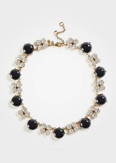 Ann Taylor Crystal Clover Beaded Necklace
