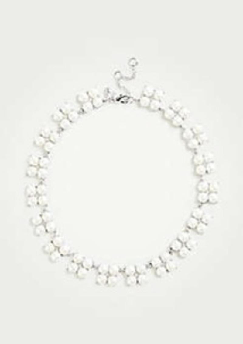 Ann Taylor Crystal Clover Beaded Necklace