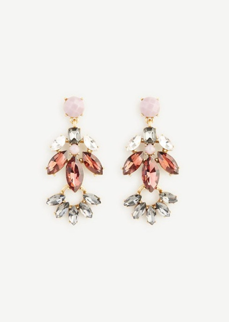 Ann Taylor Crystal Cluster Chandelier Earrings