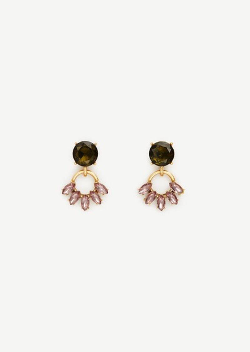 Ann Taylor Crystal Cluster Drop Earrings