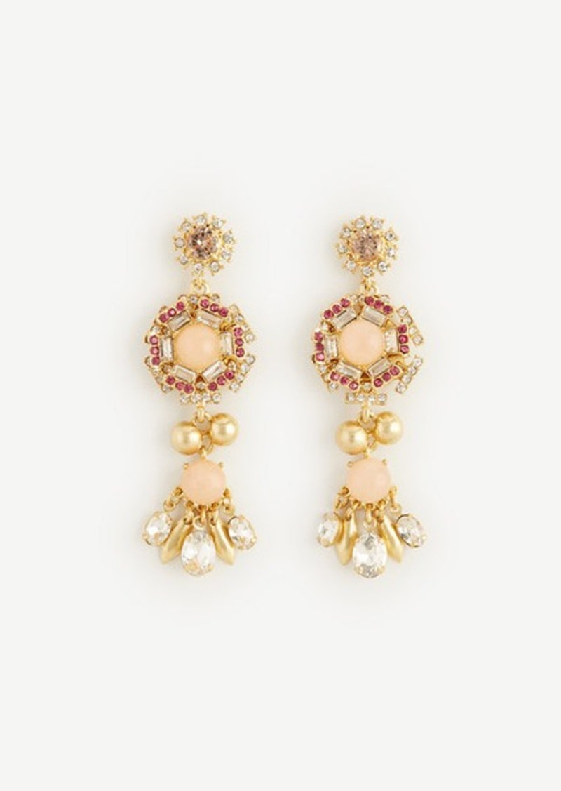 Ann Taylor Crystal Flora Drop Earrings