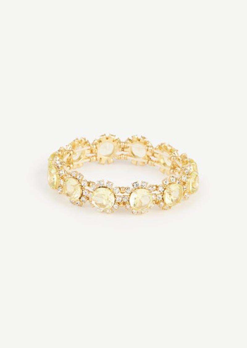 Ann Taylor Crystal Flora Stretch Bracelet