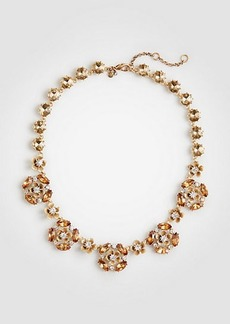 Ann Taylor Crystal Flower Necklace