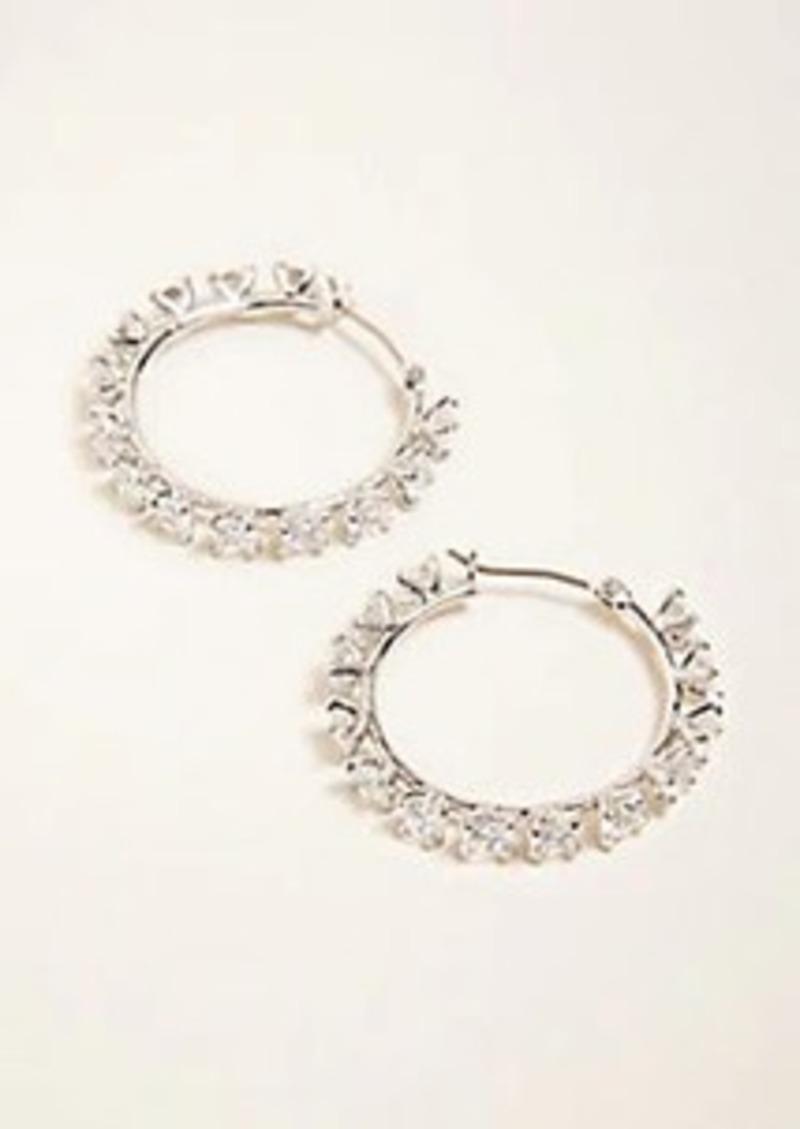 Ann Taylor Crystal Hoop Earrings