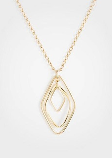 Ann Taylor Crystal Metallic Pendant