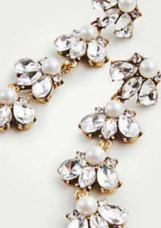 Ann Taylor Crystal Pearlized Statement Earrings