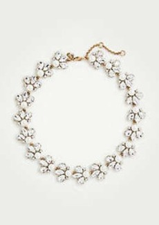 Ann Taylor Crystal Pearlized Statement Necklace