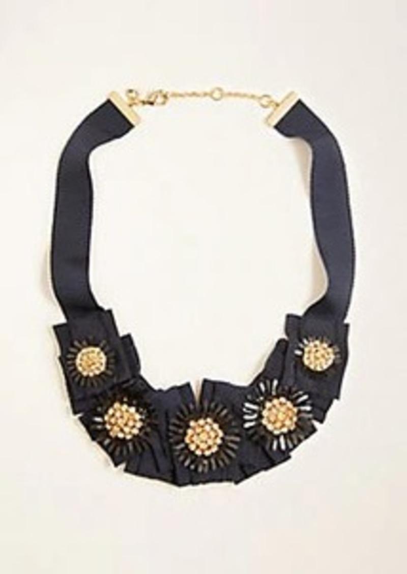 Ann Taylor Crystal Ribbon Necklace
