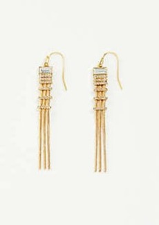 Ann Taylor Crystal Snake Chain Earrings