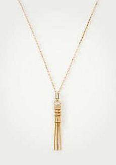 Ann Taylor Crystal Snake Chain Pendant Necklace