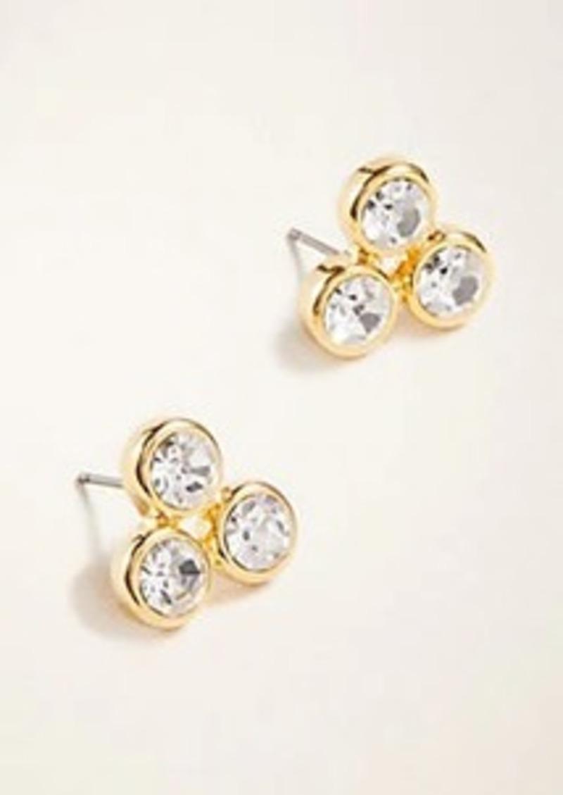 Ann Taylor Crystal Statement Stud Earrings