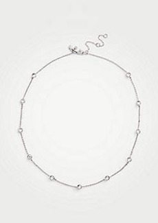 Ann Taylor Crystal Station Necklace